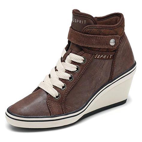 Esprit Sneaker Wedge Braun Keilabsatz Lexa Damen Mit Oder Yb7gf6yv