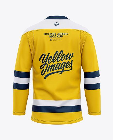 Men S Lace Neck Hockey Jersey Mockup Back View In Apparel Mockups On Yellow Images Object Mockups Clothing Mockup Design Mockup Free Shirt Mockup