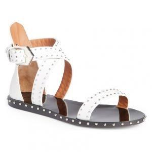 Givenchy White Studded Leather Elegant Gladiator Sandals 40 Off Studded Gladiator Sandals Studded Sandals Gladiator Sandals