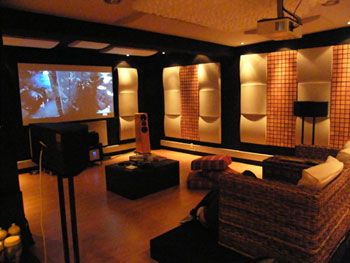 home theater acoustic design. Vicoustic treated Home Theater  and Hi Fi Pinterest Room