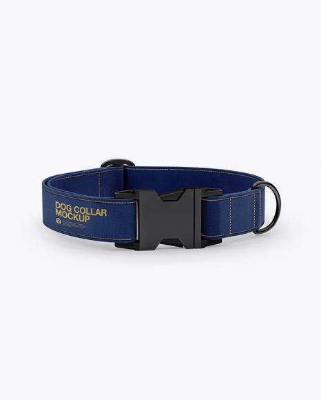 Linen Dog Collar Mockup Front View High Angle Shot In Object Mockups On Yellow Images Object Mockups Linen Dog Collar Mockup Free Psd Mockup Psd