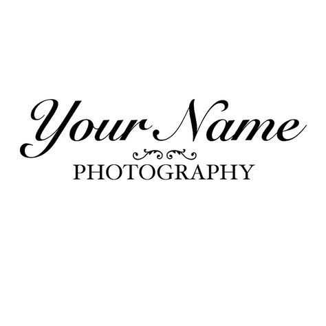 This simple logo was created using text and the Bodoni Ornaments font.  #photography #photographylogo #graphicdesign #logocreation #designtutorial #photographybusiness  Make sure to check out our Instagram for even more quick tutorials just like this.