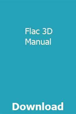 Flac 3d Manual Trx Manual Brake Repair
