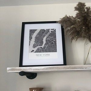 Richmond Brushed Black Gold Silver 16x16 Etsy Mirrored Picture Frames Photo Frame Frame