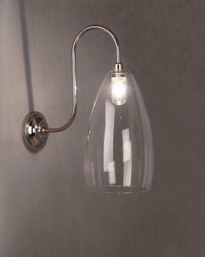 Clear Glass Bathroom Wall Light Swan Neck Upton Retro Contemporary Design Ip44 Rated Bathroom Wall Lights Bathroom Lighting Wall Lights