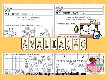 Avaliacao Diagnostica Pre Escolar Em 2020 Educacao Infantil