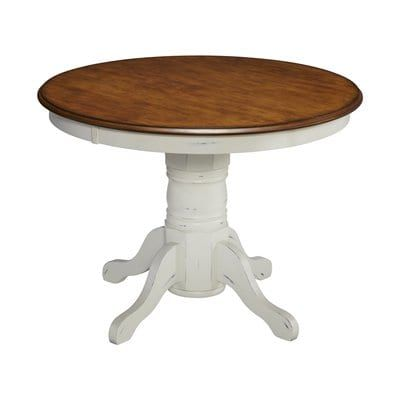 5518 30 French Countryside Pedestal Dining Table Round Pedestal