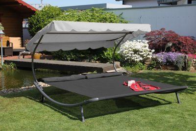 Leco Luxus Doppelliege Dach Kissen 2x2m Garten Liege Sonnenliege Anthrazit Jetzt Bestellen Unter Https Moebel Gartenliege Wintergarten Mobel Sonnenliege