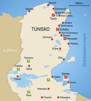Tunisko Mapa Tunisko
