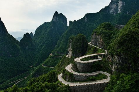 Tianmen Mountain by Anan Charoenkal