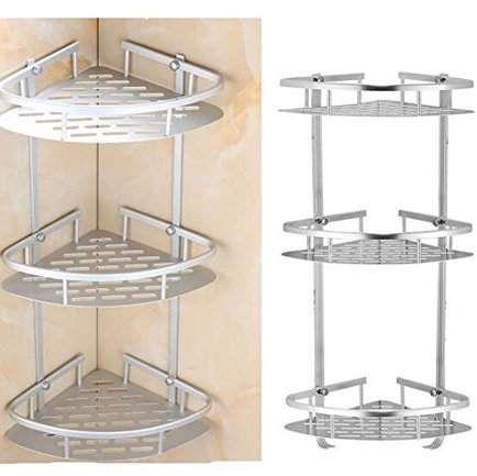 3 layer triangular shower caddy shelf