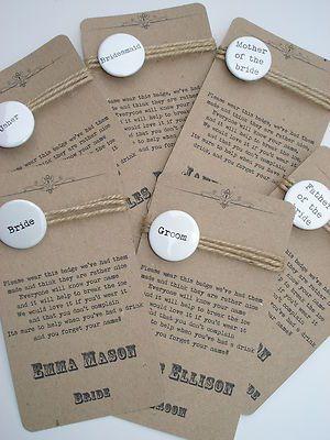 Handmade  Personalised Vintage/Shabby Chic Wedding Place Name Cards  Badge   eBay