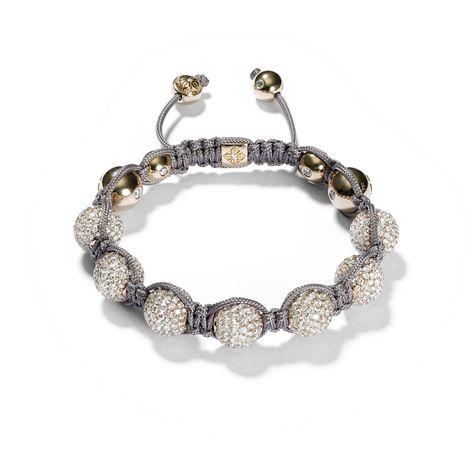 Luxury charm Gold rose Shamballa charm Luxury bracelet Braided luxury shamballa macrame bracelet Gift for him and her