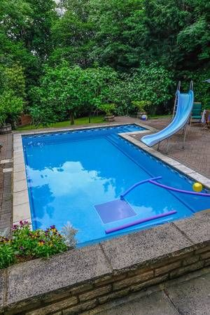 North London England Uk June 3 2018 Garden Swimming Pool Garden Swimming Pool Swimming Pools Pool
