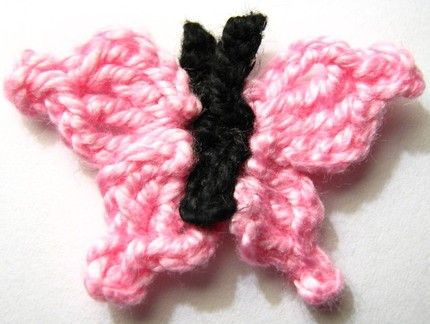 Crochet butterflies tutorial.