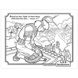 Blessed Art Thou Nephi Coloring Page Printable Coloring Pages Lds Coloring Pages Art Thou