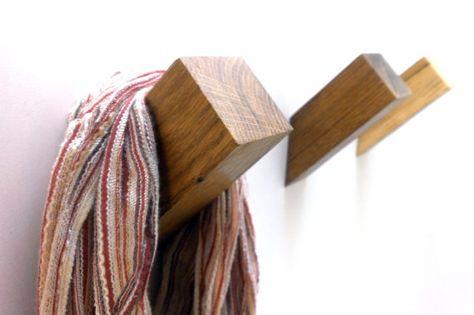 Oak Wall Hook  Wooden Coat Hook Coat Rack Modern by WOODINDECOR