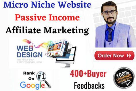 I will make micro niche affiliate marketing website for passive income