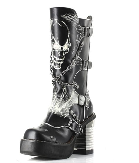 Soul Strike Stompers | Goth boots, Gothic boots, Boots