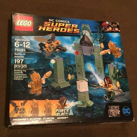 LEGO DC Comics Super Heroes Aquaman  Battle of Atlantis #76085 197 pieces New