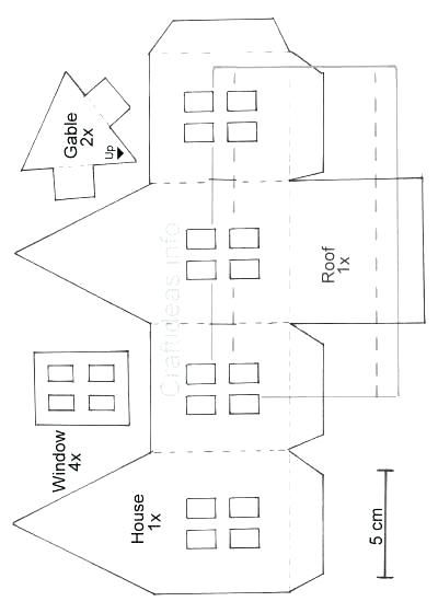 Printable Christmas Village Template Famous Paper House Template Free Photos Example Resume Idea Paper House Template House Template Gingerbread House Patterns