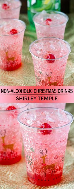 This Shirley Temple recipe is great for holiday parties wth family, expectant mothers, or designated drivers! It's the ultimate kiddie cocktail dinner ideas family 9 Non-Alcoholic Christmas Drinks That Are Perfect for the Holidays Christmas Drinks Alcohol, Christmas Cocktails, Holiday Drinks, Holiday Recipes, Holiday Parties, Christmas Cocktail Party, Holiday Ideas, Drinks Alcohol Recipes, Non Alcoholic Drinks