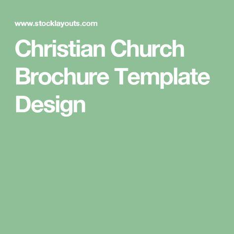 Church Brochure Template Design by StockLayouts Church brochure - religious brochure