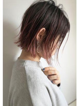 2020年冬 ショート レッド ピンク系の髪型 ヘアアレンジ 人気順