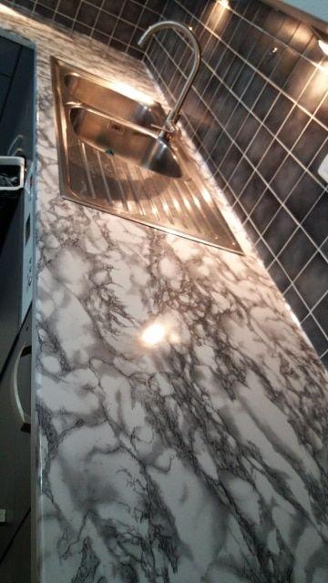 Marble Vinyl Film Self Adhesive Wallpaper For Bathroom Kitchen Cupboard Countertops Contact Paper Marble Vinyl Shabby Chic Decor Living Room Bathroom Wallpaper