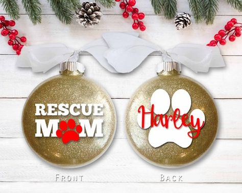 Rescue Mom Dog Ornament - Personalized Dog Lover Christmas ...