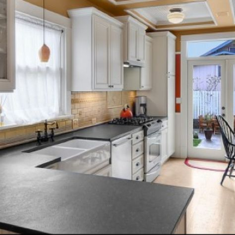 Honed Absolute Black Granite Countertops. Knockoff For Soapstone And  Bluestone In The Kitchen. Much