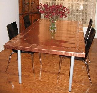 Copper Tabletop Dining Table Copper Dining Table Copper Table