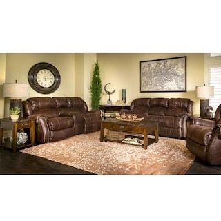 Nettleton Reclining Sofa And Loveseat In Brown Furniture Living Room Sets Nebraska Furniture Mart
