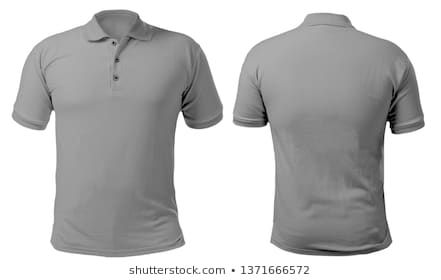 Download Blank Collared Shirt Blank Collared Shirt Mock Up Template Front And Back View Isolated On White Plain Gray T Shirt Mock Tee Design Shirts Collar Shirts