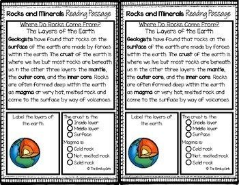 41+ Rocks and minerals reading comprehension worksheets Images
