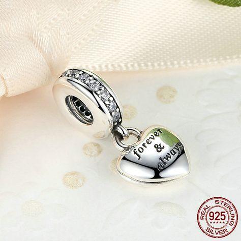 2f8776702 Alla mia splendida moglie Per sempre in eterno 100% argento sterling 925 si  adatta a pandora charm e braccialetto europeo di OceanBijoux su Etsy