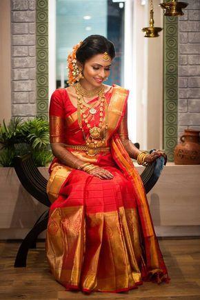 101 Trendy Bridal Silk Sarees Worn By Real Brides South Indian Wedding Saree Indian Bridal Sarees Wedding Saree Indian