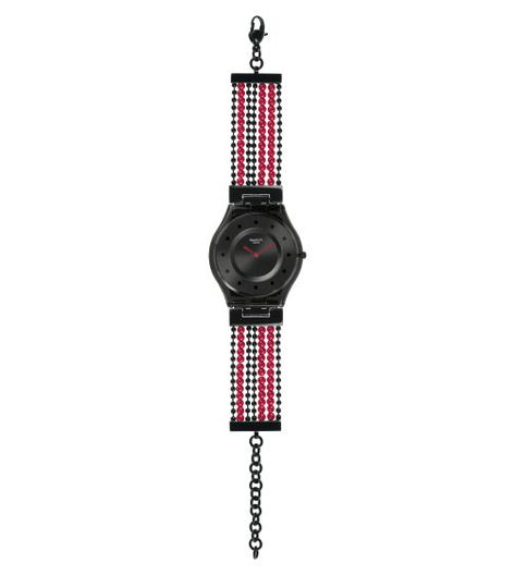 Swiss made, the Swatch watch BUBBLE CURTAIN features a quartz movement, a bimat. adjustable strap and a plastic watch head. Discover more Skin Classic on the Swatch United States website.