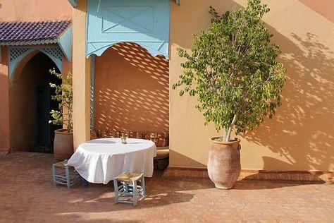 モロッコ 家 カラフルです 壁 カスバ 建物 マラケシュ カスバ