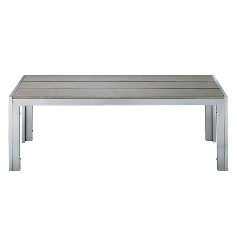 Maisons du Monde banc €99 120x42 Aluminium / Composite bois ...