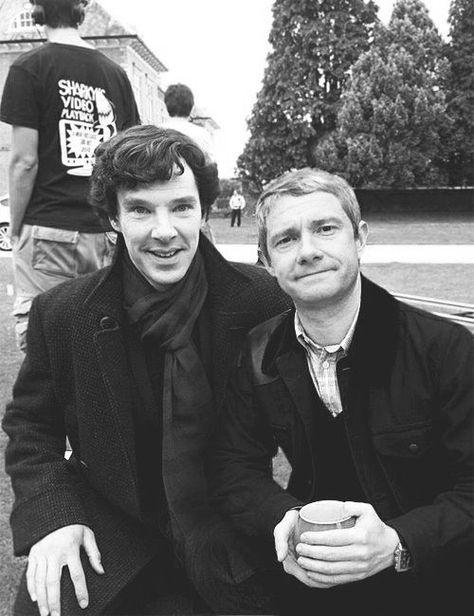 Benedict Cumberbatch And Martin Freeman Sherlock John Sherlock