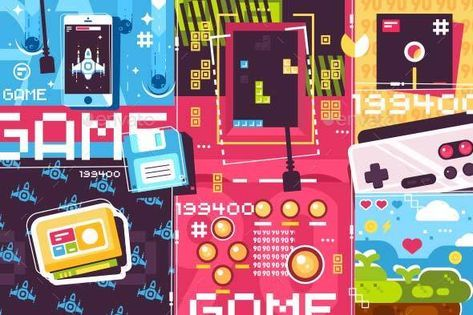 Video Game Abstract Background Game Video Background