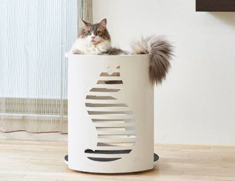 Clear Cylindrical Cat Nest Cats Pet Feeder Pets