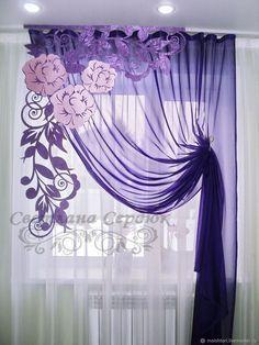 Kaufen Sie Vorhange Lila Durchbrochen Vorhange Auf A