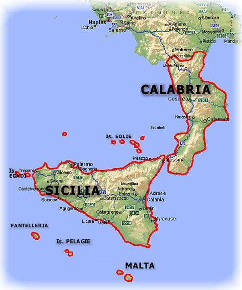 Mapa De Sicilia Italia.Calabria Mapa De Busqueda Sicilia Sicilia Italia E Mappe