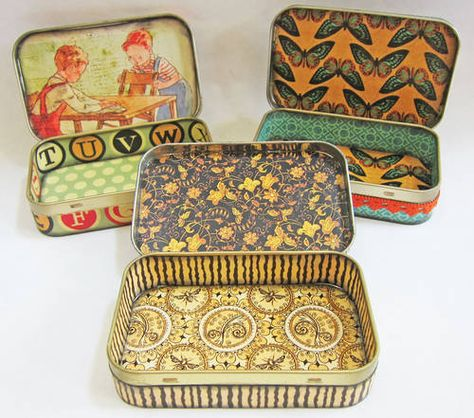 Altoids Gift Tins - PAPER CRAFTS, SCRAPBOOKING & ATCs (ARTIST TRADING CARDS)/ Love this, could use in drawers for organizing pins, etc. and I have enough of these!