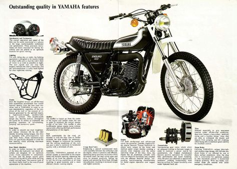 VINTAGE YAMAHA ENDURO 360 RT1-B  MOTORCYCLE BANNER
