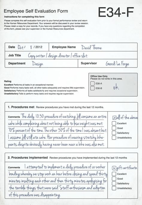 How to explain employee engagement Hr humor, Employee engagement - employee self evaluation form