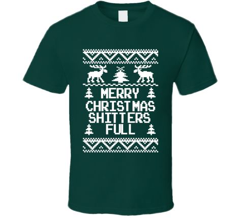 aaddc94f Youth Merry Xmas Shitters Fully Funny T-Shirt