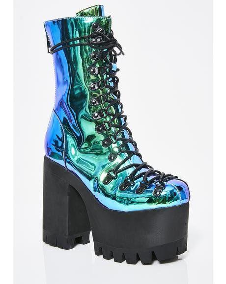 Moonstone Platform Boots #dollskill